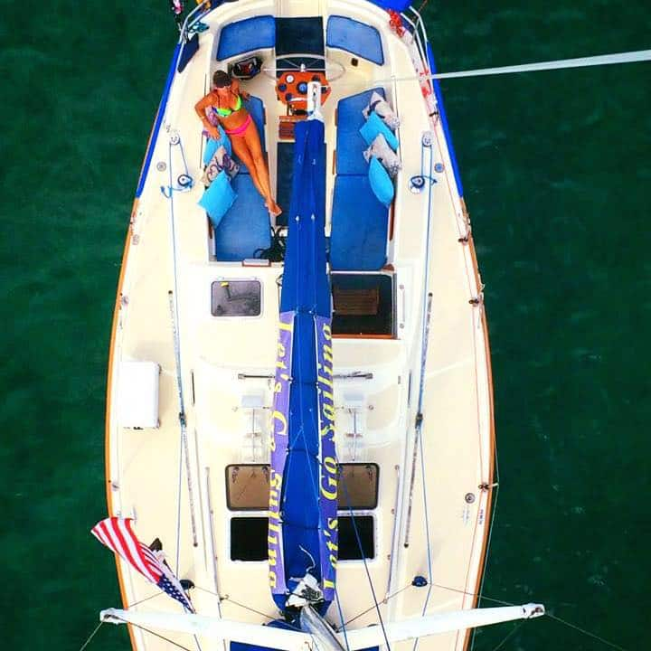 jester sailboat from above