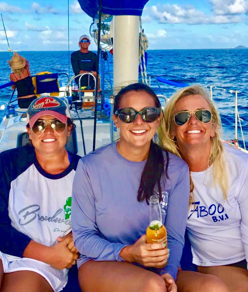 Holly and Friends aboard Jester Sailboat